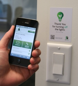 Occupants can scan location specific signage to leave feedback, request service or access building information.